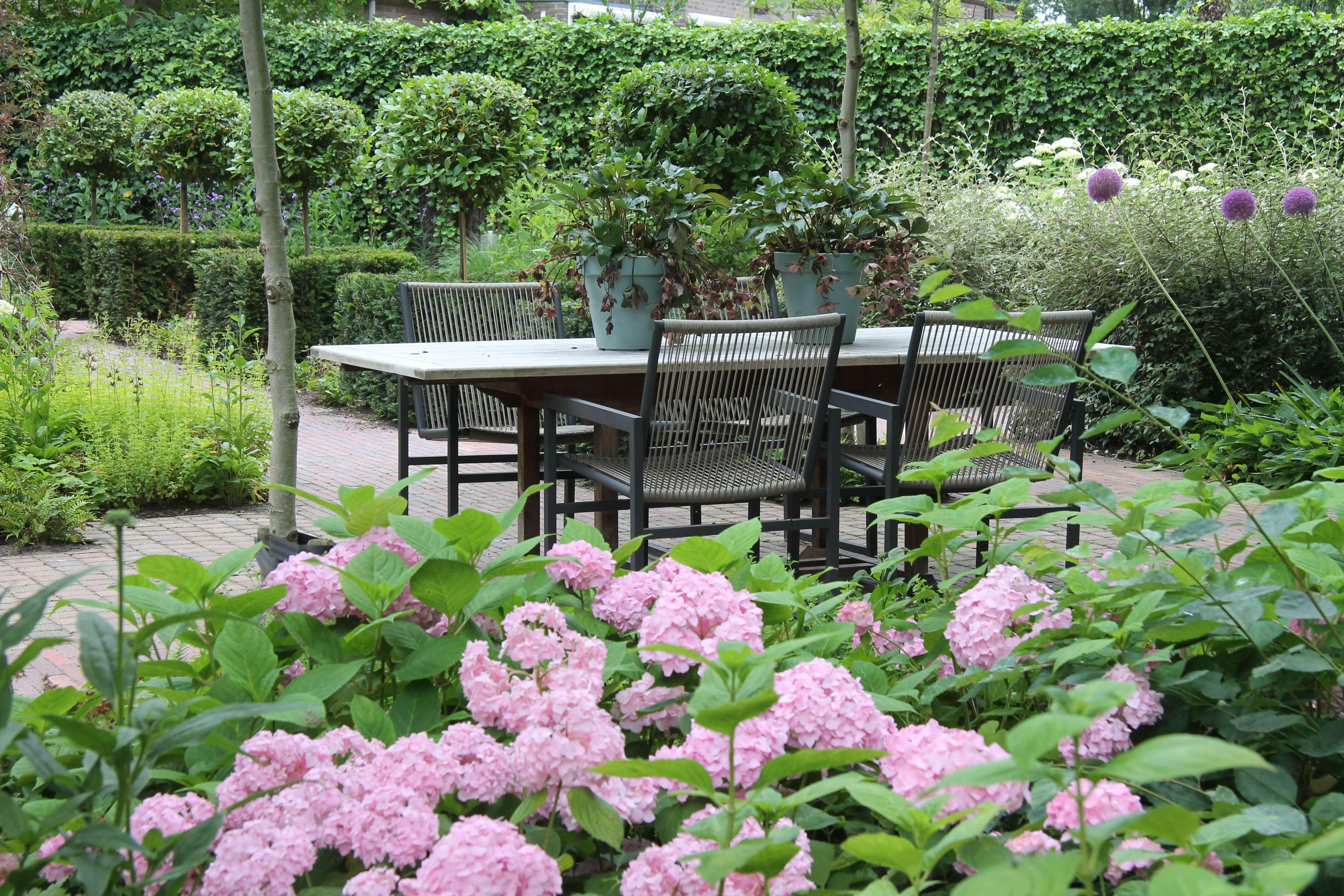 Een tuin met duidelijke zichtlijnen geeft rust als je naar buiten ...