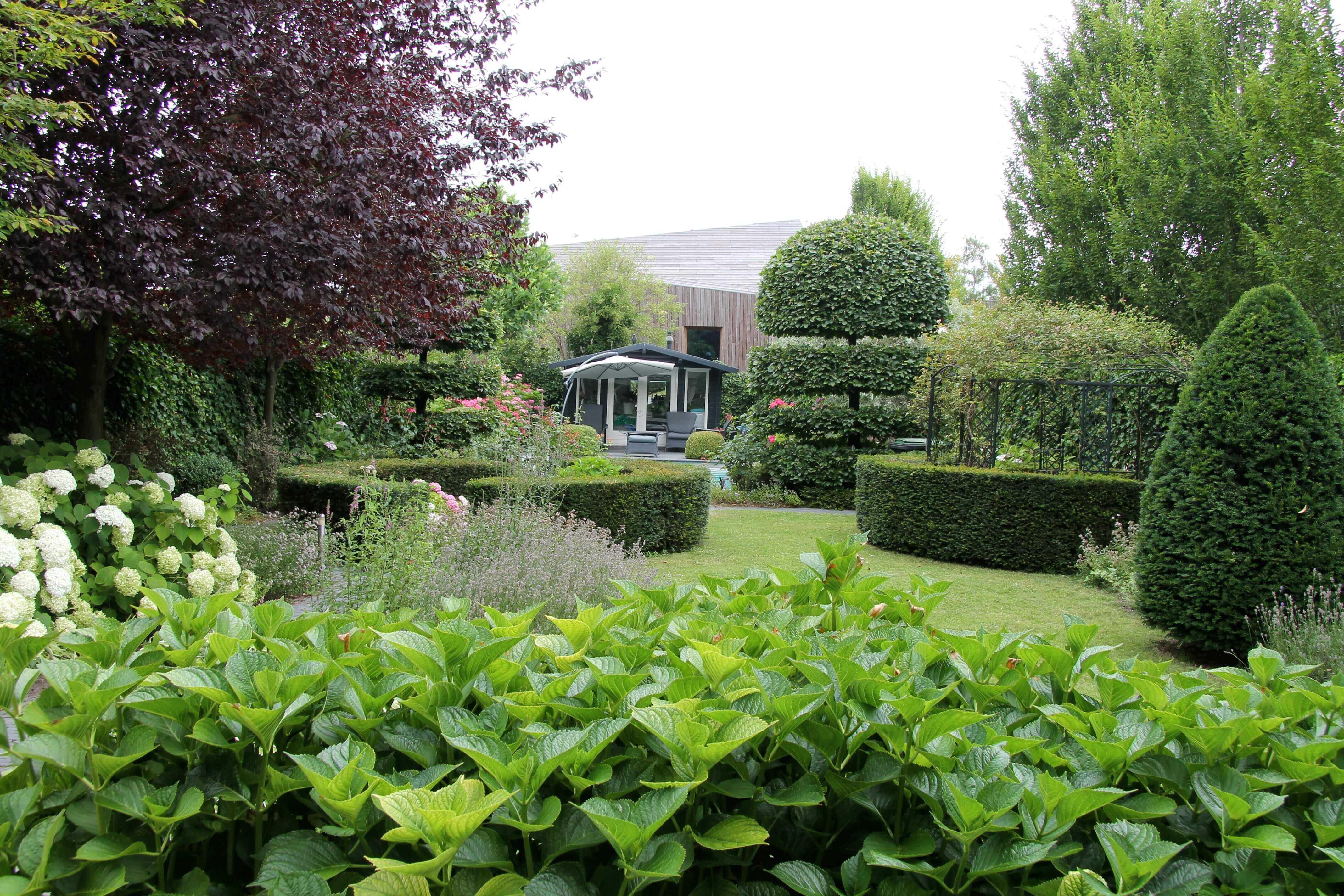 Exclusieve groene tuin