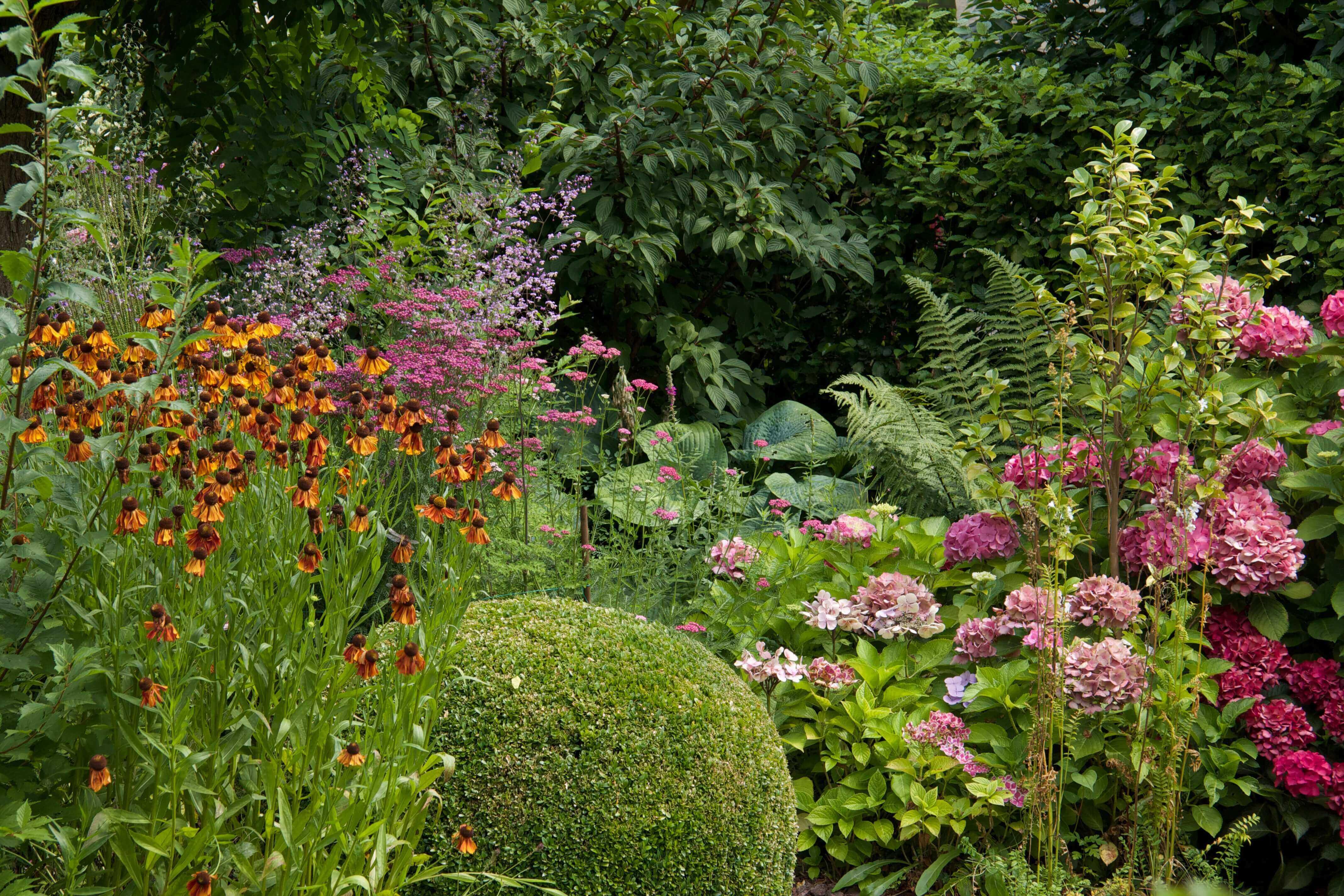 romantische plantentuin